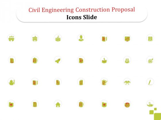 Civil Engineering Construction Proposal Icons Slide Ppt Summary Format Ideas PDF