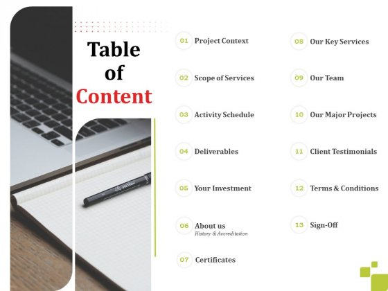 Civil_Engineering_Construction_Proposal_Table_Of_Content_Ppt_Outline_Maker_PDF_Slide_1