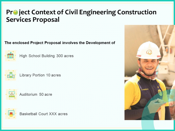 Civil Engineering Consulting Services Project Context Of Civil Engineering Construction Services Proposal Summary PDF