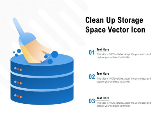 Clean Up Storage Space Vector Icon Ppt Slides Topics PDF