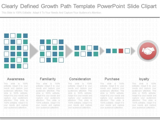 Clearly Defined Growth Path Template Powerpoint Slide Clipart