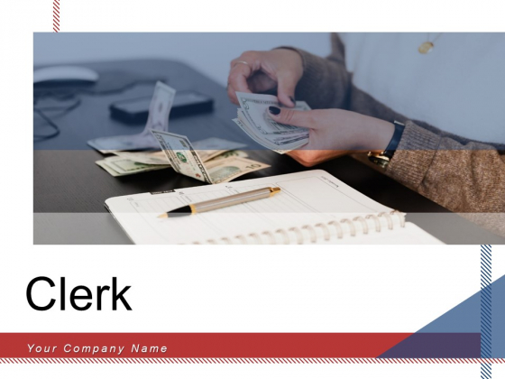 Clerk Sales Report Payment Counter Ppt PowerPoint Presentation Complete Deck
