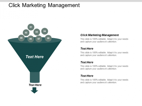 Click Marketing Management Ppt PowerPoint Presentation Pictures Good Cpb