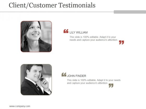 Client Customer Testimonials Ppt PowerPoint Presentation Templates
