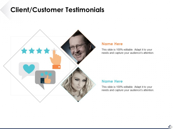 Client Customer Testimonials Slide2 Ppt PowerPoint Presentation Styles Graphics Template