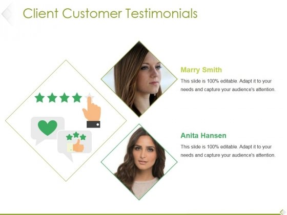Client Customer Testimonials Template 1 Ppt PowerPoint Presentation Show Example Introduction