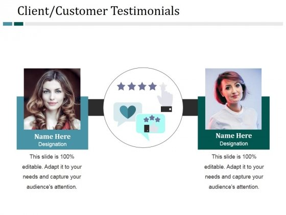 Client Customer Testimonials Template 2 Ppt PowerPoint Presentation Model Examples