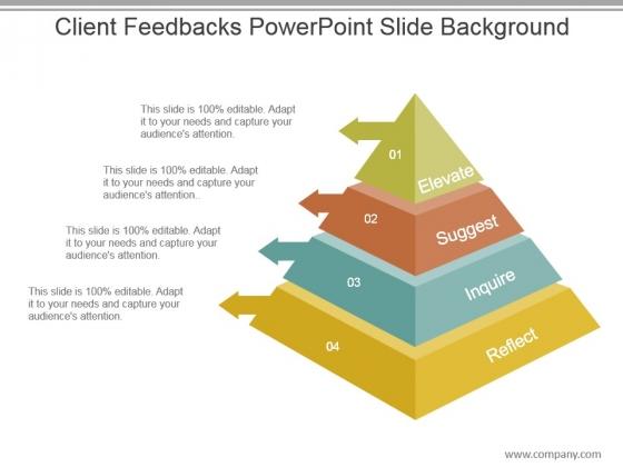 Client Feedbacks Powerpoint Slide Background