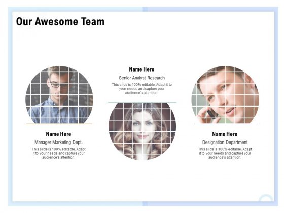 Client Health Score Our Awesome Team Ppt PowerPoint Presentation Professional Microsoft PDF
