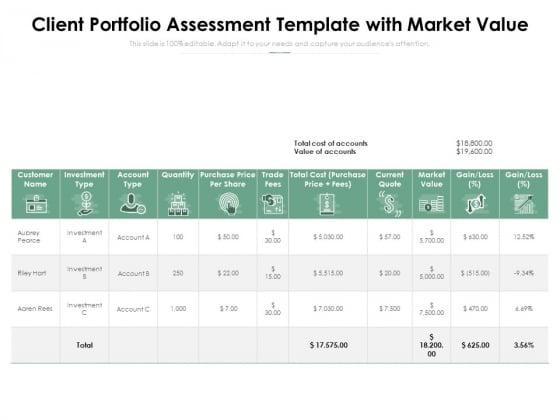 Client_Portfolio_Assessment_Template_With_Market_Value_Ppt_PowerPoint_Presentation_Model_Graphics_Download_PDF_Slide_1