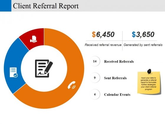 client referral report ppt powerpoint presentation gallery graphics
