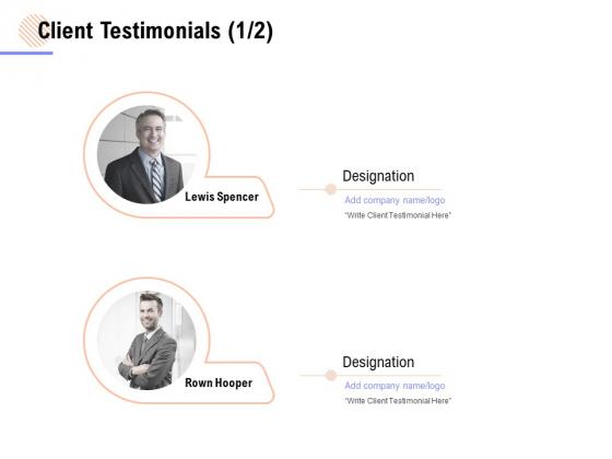 Client Testimonials Business Ppt PowerPoint Presentation Outline Files