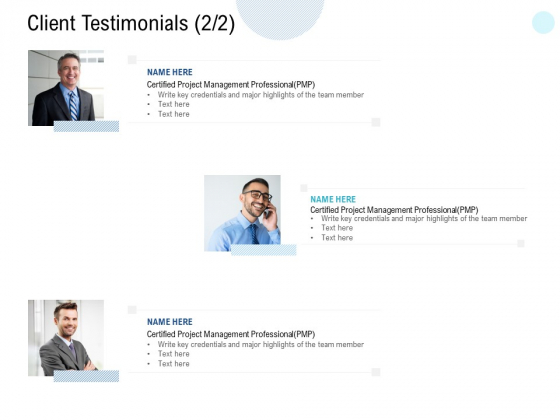 Client Testimonials Communication Ppt PowerPoint Presentation Gallery Slide