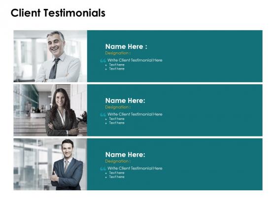 Client Testimonials Designation Ppt PowerPoint Presentation Inspiration Picture