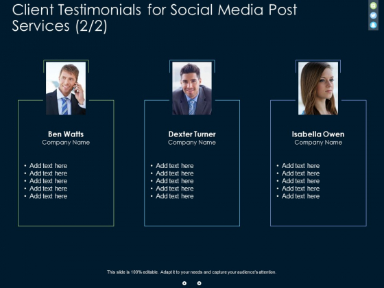 Client Testimonials For Social Media Post Services Teamwork Ppt PowerPoint Presentation Inspiration Portrait