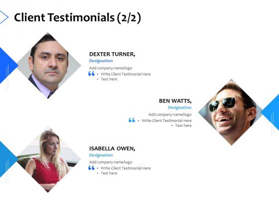 Client Testimonials Introduction Ppt PowerPoint Presentation Icon Background Designs