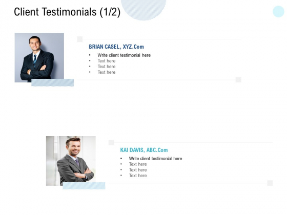 Client Testimonials Introduction Ppt PowerPoint Presentation Infographic Template Picture