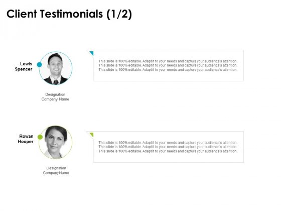 client testimonials introduction ppt powerpoint presentation outline grid