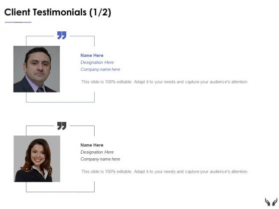 Client Testimonials Introduction Ppt Powerpoint Presentation Show Portfolio