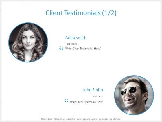 Client Testimonials Introduction Ppt PowerPoint Presentation Show Visual Aids