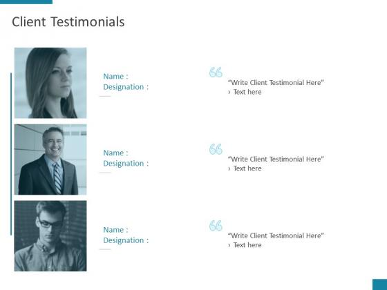 Client Testimonials Planning Ppt PowerPoint Presentation File Good