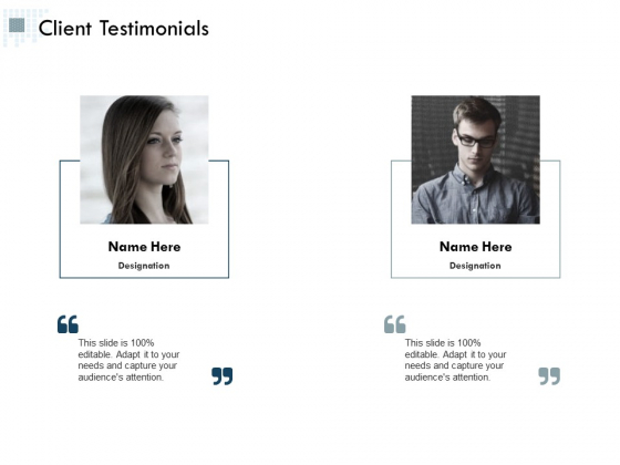 Client Testimonials Ppt Powerpoint Presentation File Elements