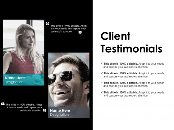 Client Testimonials Ppt PowerPoint Presentation Gallery Background Designs