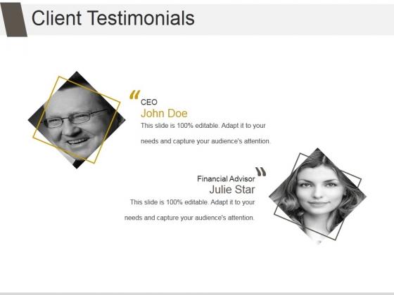 Client Testimonials Ppt PowerPoint Presentation Gallery