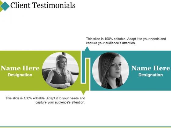 Client Testimonials Ppt PowerPoint Presentation Icon Deck