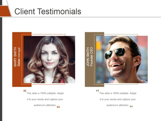 Client Testimonials Ppt PowerPoint Presentation Infographics Themes