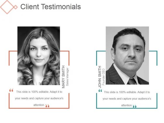 Client Testimonials Ppt PowerPoint Presentation Visuals