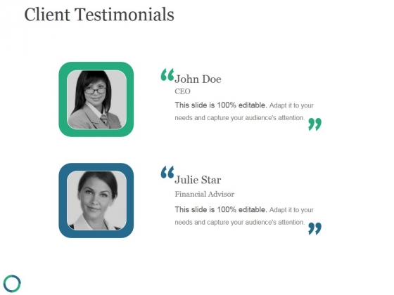 Client Testimonials Template 1 Ppt PowerPoint Presentation Diagrams