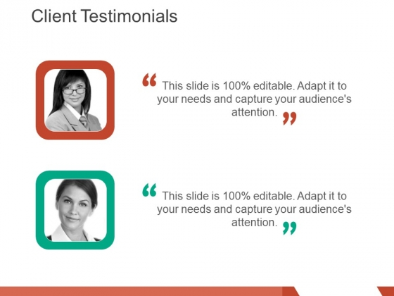 client testimonials template 1 ppt powerpoint presentation layouts influencers