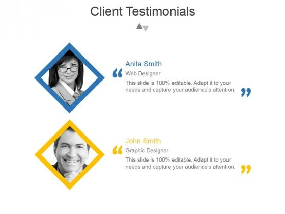 Client Testimonials Template 1 Ppt PowerPoint Presentation Professional