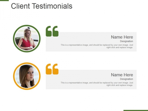 Client Testimonials Template 1 Ppt PowerPoint Presentation Styles Backgrounds