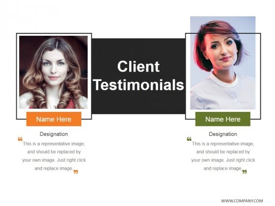 Client Testimonials Template 2 Ppt PowerPoint Presentation Outline Shapes