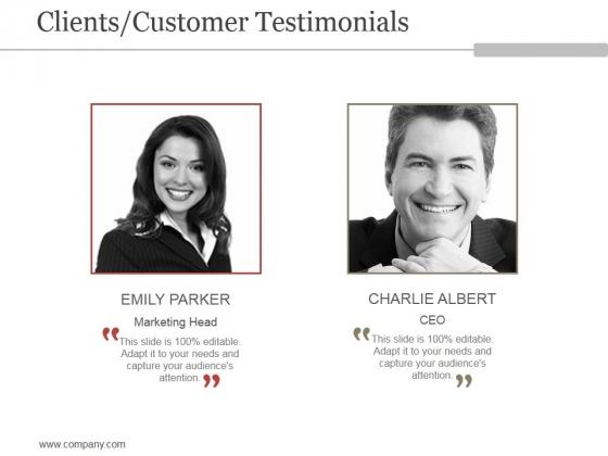 Clients Customer Testimonials Ppt PowerPoint Presentation Sample