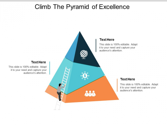 climb the pyramid of excellence ppt powerpoint presentation ideas portrait