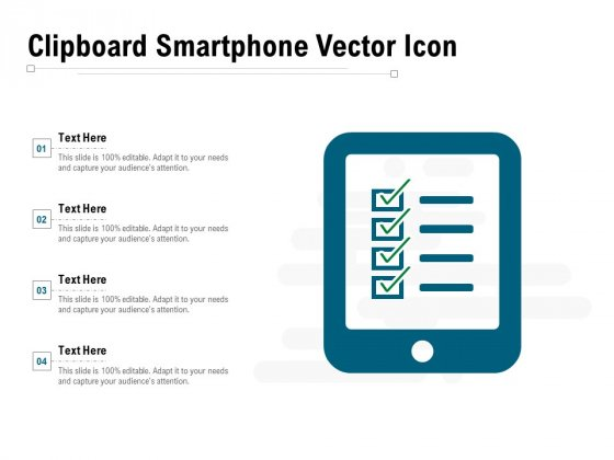 Clipboard Smartphone Vector Icon Ppt PowerPoint Presentation Gallery Microsoft