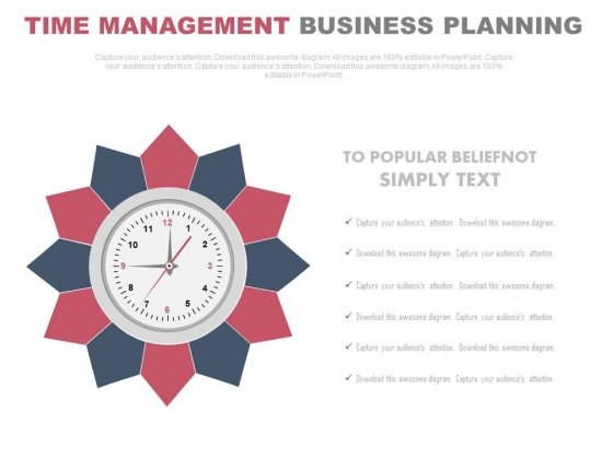 Clock For Strategic Time Management And Business Vision Powerpoint Slides