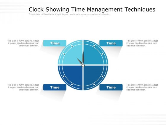 Clock Showing Time Management Techniques Ppt Powerpoint Presentation Show Outline