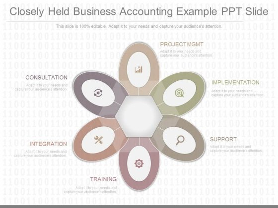 Closely Held Business Accounting Example Ppt Slide