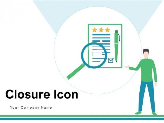 Closure Icon Employee Computers Ppt PowerPoint Presentation Complete Deck