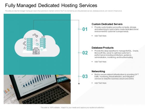 Cloud Based Marketing Fully Managed Dedicated Hosting Services Ppt PowerPoint Presentation Professional Design Ideas PDF
