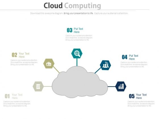 Cloud Computing Global Technology Illustration Powerpoint Template