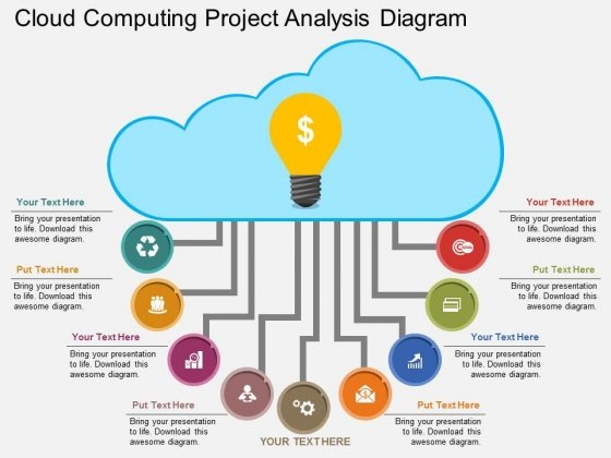 Cloud Computing Project Analysis Diagram Powerpoint Template