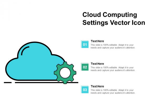 Cloud Computing Settings Vector Icon Ppt PowerPoint Presentation Professional Information PDF