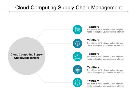 Cloud Computing Supply Chain Management Ppt PowerPoint Presentation Portfolio Ideas Cpb