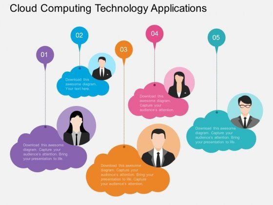 Cloud Computing Technology Applications Powerpoint Template