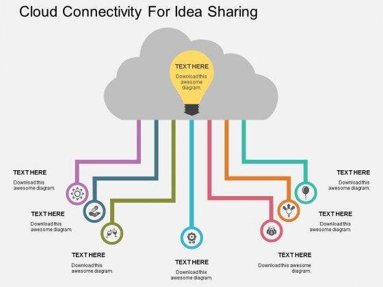 Cloud Connectivity For Idea Sharing Powerpoint Template